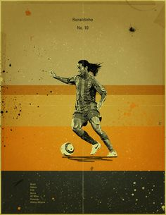 Famous Footballers 2 by Jon Rogers, via Behance #soccer #poster