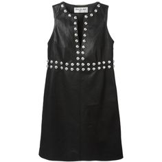 db8b768cb883 Saint Laurent studded mini dress (9.445 BRL) ❤ liked on Polyvore featuring  dresses, black, kohl dresses, short dresses, black sleeveless dress, ...