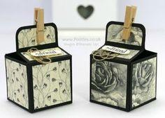 Stampin' Up! Demonstrator Pootles - 2 inch 5cm Cube Box Tutorial Using Timeless Elegance