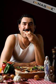 (american) Italian- If you happen to sport a wife beater on a daily basis complete with an oversized moustache, you're probably the media's representation of the American Italian: in your mid-30's living in your mother's NY apartment who you love just as much as you love god. You complete over emphasizing your syllables with an assortment hand gestures. Oh and also, you're a plumber.