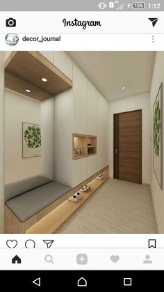 hallway entrance wardrobe flur eingangsbereich Home DecorPin - New Ideas Apartment Entrance, House Entrance, Entrance Foyer, Home Entrance Decor, Entrance Halls, Entrance Ideas, Entry Way Design, Hall Design, Flur Design