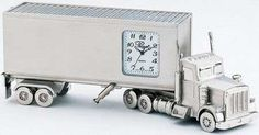 The 18 Wheeler Truck Clock is a cool and unique gift for a truck driver! This stunning clock has been created with intricate detail, and features a...