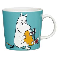 Children and adults alike fall in love with the sympathetic characters of Moomin Valley as created by the author Tove Jansson. The Arabia artist Tove Slotte-Elevant has designed the delightful Moomin objects in keeping with the original drawings. Tove Jansson, Moomin Mugs, Moomin Shop, Moomin Valley, Fun Cup, Porcelain Mugs, Christmas Gift Guide, Marimekko, Decoration