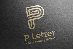 Letter P Logo Vector Icon by aykutfiliz on @creativemarket