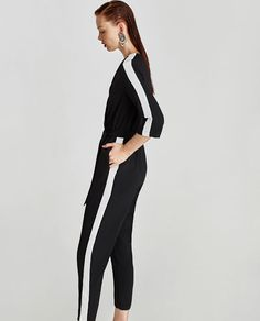 ZARA - WOMAN - JUMPSUIT WITH SIDE BAND