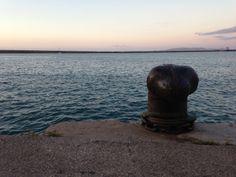 at the harbor of Heraklion, Crete