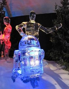These R2-D2 and C-3PO Ice Sculptures Will Blow Your Mind! #starwars