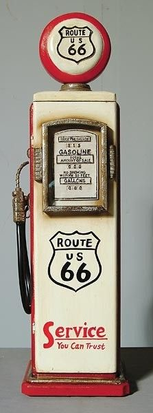 Vintage gas pump. Would be neat in the living room.