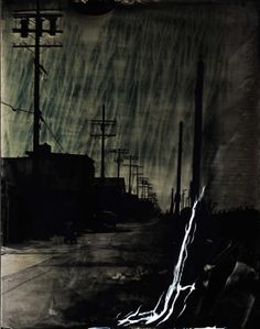 """Ian Ruhter/ Wet Plate Collodion 27""""x36""""/Melting Sky/ Los Angeles CA 6.3.2012"""