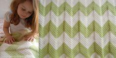 chevron baby blanket 3