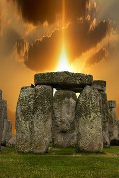 Puesta de sol en Stonehenge