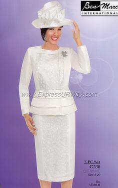 Marc Designer Sunday Suits Spring And Summer 2014 Women Church Suits, Suits For Women, Classy Outfits, Classy Clothes, Church Fashion, Church Hats, Church Outfits, Spring 2014, Summer 2014