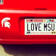 True LOVE. 💚 #gogreen #msuspartans #michiganstate #nudgeprinting @eliseg313 #Padgram Msu Spartans, Basketball Is Life, Michigan State University, State Street, Alma Mater, True Love, Wisconsin, Real Love