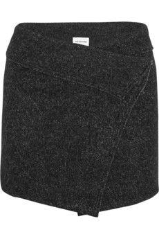 Étoile Isabel Marant Dailon wool-blend bouclé mini wrap skirt   NET-A-PORTER