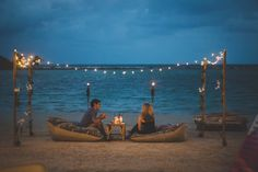 Romantic private setting on the beach at Mini Bar, Chaweng Beach, Koh Samui, Thailand.