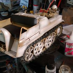 Another round of white on the Kettenkrad.