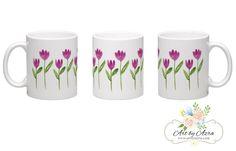Watercolour Florals Mug Design