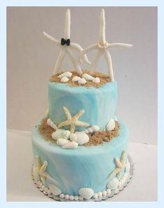 Beach Wedding Cake with Starfish