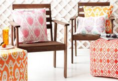 Love this colorful pop for an outdoor space!