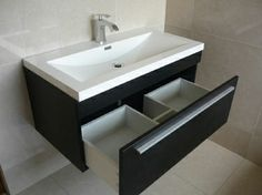Wall Hung Bathroom Vanity Drawer - drawer open