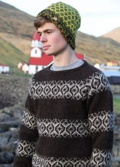 The idea behind Sirri is to utilize the natural resource available in the Faroe Islands - to use the Faroese wool and create a product which is unique and which acquires a special significance for the user. Folk Fashion, Knitwear Fashion, Mens Fashion, Men's Knitwear, Burberry Men, Gucci Men, How To Dress For A Wedding, Icelandic Sweaters, Current Fashion Trends