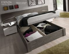 Si queremos más capacidad para guardar ropa, mantas u otros objetos las camas con canapés elevables nos dan este espacio extra en el dormitorio