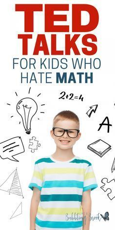 TED Talks For Middle School Kids Who Hate Math. We homeschool and one of our kids hates math. We've tried a million ways to make math more enjoyable but it has been a challenge! These Ted Talks are…More Math Teacher, Math Classroom, Teaching Math, Teaching Tips, Teaching Themes, Teacher Quotes, Classroom Themes, Math For Kids, Fun Math