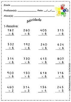 3rd Grade Math Worksheets, Multiplication Worksheets, Fun Worksheets, School Worksheets, Math Exercises, Math Drills, Math Sheets, English Worksheets For Kids, Math Help
