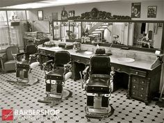 Barbershops are awesome! I spent much of my childhood hanging out in my dad's barbershop. It didn't look like this one, though.
