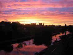 Spectaculaire zonsondergang met het zicht op Artis.