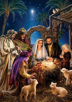 Jesus Christmas Images, Merry Christmas Religious, Merry Christmas Pictures, Christmas Scenery, Christmas Nativity Scene, Merry Christmas To You, Noel Christmas, Vintage Christmas Cards, Nativity Scenes