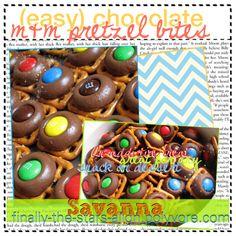 ♡ - Easy recipe: Chocolate M&M pretzel bites