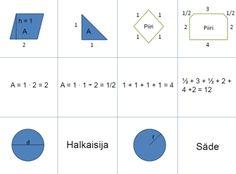 Matikkamuistipeli 5.–6. luokka « OuLUMA – Pohjois-Suomen LUMA-toiminnan foorumi - Pelin tavoitteena on harjoitella ja kerrata opetussuunnitelmassa esitettyjä matematiikan keskeisiä sisältöjä vuosiluokilla 3–6, kuten esimerkiksi piirin, pinta-alan, tilavuuden laskemista ja yksikkömuunnoksia.