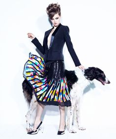 Lindsey Wixson Has Canine Co-Stars in Vogue Brazil Shoot by Jacques Dequeker | Fashion Gone Rogue: The Latest in Editorials and Campaigns