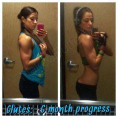 Glute 6 month progress - brett contreras