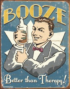 Schonberg - Booze Therapy Tin Sign - AllPosters.ca