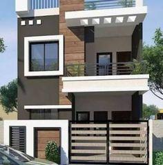 57 Trendy Ideas for house design exterior modern indian House Outer Design, Modern Small House Design, Modern Exterior House Designs, Latest House Designs, Minimalist House Design, House Front Design, Cool House Designs, Modern Home Exteriors, Indian House Exterior Design