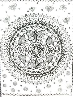 COLORING BOOK Mandalas Henna Style Coloring Book by ChubbyMermaid