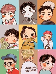 Exo lucky one teaser fanart exo anime, chibi & fan art Baekhyun, Kaisoo, Park Chanyeol, Exo Lucky One, Exo Cartoon, Exo Anime, Anime Chibi, Mundo Musical, Exo Fan Art