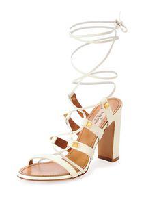 Rockstud High-Heel Gladiator Sandal by Valentino at Bergdorf Goodman.