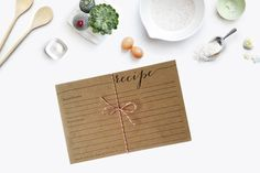 recipe cards - letterpress - shared with love, from the kitchen of - pack of 10 - rustic - country