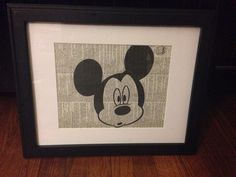 Black and White MICKEY MOUSE  on Etsy, $10.00