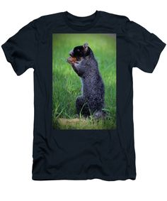 Sciurus Niger Men's T-Shirt (Athletic Fit) featuring the photograph Open Wide Little Guy by Cynthia Guinn