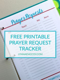 FREE Printable Prayer Request Tracker for your prayer journal.