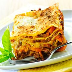 Pumpkin lasagna.. This sounds delicious.. whole ingredients.. A great alternative to fatty carb laden lasagna.. and a perfect fall comfort meal (without the guilt)