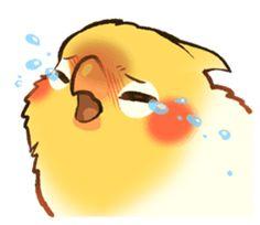 Coca by ErA sticker Bird Drawings, Cartoon Drawings, Animal Drawings, Cute Drawings, Funny Birds, Cute Birds, Parrot Drawing, Anime Sisters, Cute Canvas