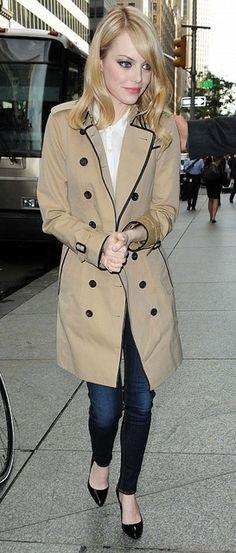 Emma Stone <3 Burberry!