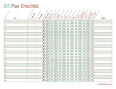 Free Printable Monthly Bill Payment Log Organizing Pinterest