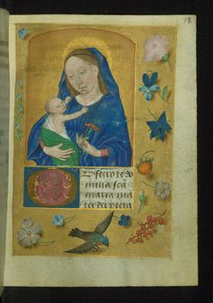Book of Hours (Use of Rome), Virgin and Child, Walters Manuscript W.431, fol. 98r | by Walters Art Museum Illuminated Manuscripts