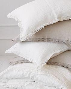 Lace Bedding, Linen Duvet, Linen Pillows, Bed Pillows, Bed Linens, Bed Linen Design, Luxury Bedding Sets, Duvet Sets, Bed Sheets